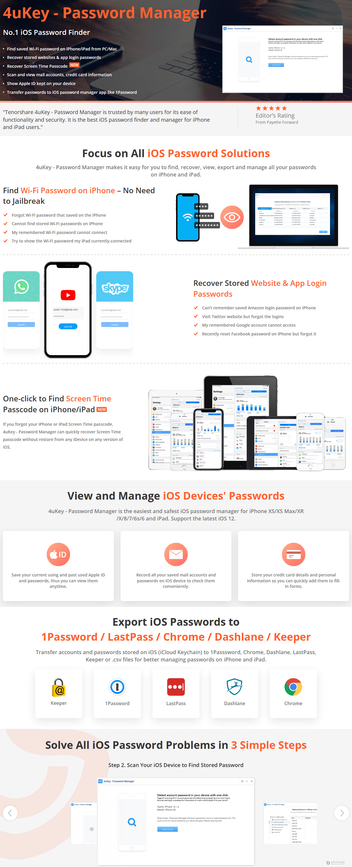 Tenorshare 4uKey iOS Password Manager for Mac Discount Coupon Code